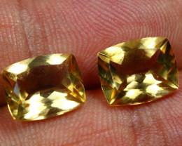 6.55cts Wonderful Gold Yellow Citrine Pair