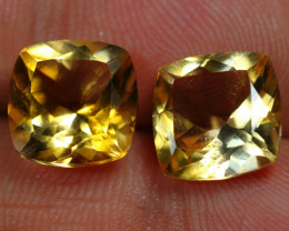 7.30cts Golden Yellow Citrine Pair