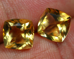 6.00cts Stunning Gold Yellow Citrine Pair