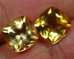6.10cts Sparkle Gold Yellow Citrine Pair