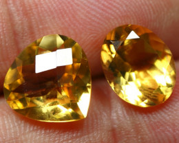 8.10cts Brilliant Gold Yellow Color Citrine Pair