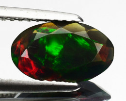 Multi-Color Play 0.92Ct Natural Ethiopian  Opal Oval Cut