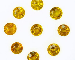 2.33 Cts Natural Canary Yellow Sapphire 4.0 - 3.8 mm Round Madagascar