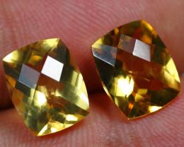 7.20cts Glisten Gold Yellow Citrine Pair