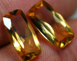 7.35cts 2 Pieces Gold Yellow Citrine Pair