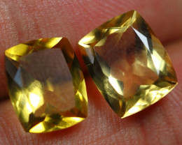 7.35cts Top Notch Gold Yellow Citrine Pair