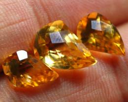 8.65cts 3 Pcs Gold Yellow Citrine Parcel