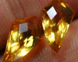 10.30cts 3 Pcs Sparkling Yellow Citrine Parcel