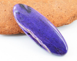 Genuine 80.00 Cts Charoite Oval Shape Cabochon