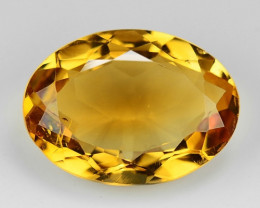 11.01 Ct Natural Citrine Awesome Color & Cut Gemstone CT4