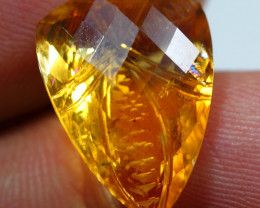 9.55cts Gorgeous Gold Yellow Citrine Fancy Carving Gemstone