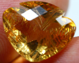 10.65cts Stunning Golden Yellow Citrine Fancy Carving Gemstone