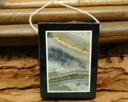 Natural gemstone amazonite obsidian jasper pendant wholesale necklace(G0103