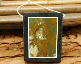 New arrival custom jasper obsidian pendant bead for necklace (G0104)