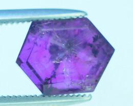 Rarest 3.20 ct Pink Kashmir Sapphire Trapiche Slice