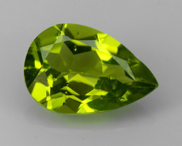 4.00 Cts High Best Natural Apple Green pear Pakistan Peridot~