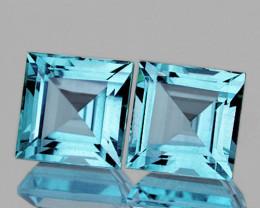 7.00 mm Square 2 pieces 4.75cts Sky Blue Topaz [VVS]