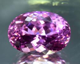 32.85 Carats Oval Cut Pink Deep Color Kunzite Gemstone
