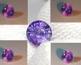 NO HEAT CERTIFIED 0.93 CTS BLUE TO PURPLE COLOR CHANGE SAPPHIRE CEYLON