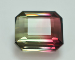 14.10 ct AAA Grade Bi Color Tourmaline Great Hue and Luster