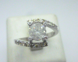 1.30ct Solitaire Diamond Ring , 14kt White Gold