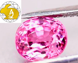 GLC Cert. Unheated Purplish-Pink Mahenge Spinel (Tanzania) $1,100