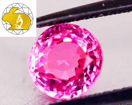 LOUPE-CLEAN! NR! Perfection! Cert.  Intense Pink Mahenge Spinel $3,400