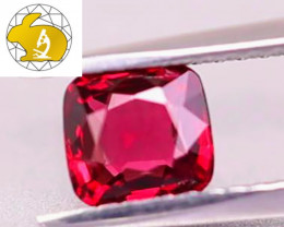 VVS! Cert. Unheated Red Mahenge Spinel $1,650