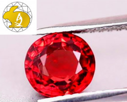 Certified Unheated Intense Red Mahenge Spinel (Tanzania) $1,800