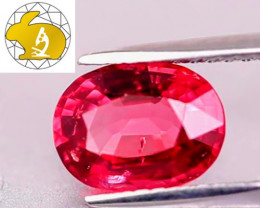Gorgeous Color! Certified Unheated Vivid Red Mahenge Spinel $2,450