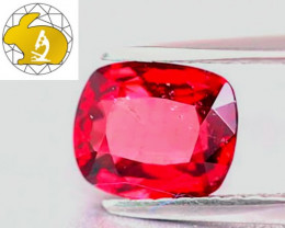 Stunning! Cert. Unheated Intense Red Mahenge Spinel $2,000
