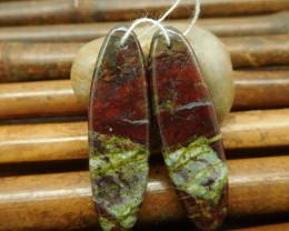 Oval cut dragon bloodstone earring bead jewelry set for women (G0114)