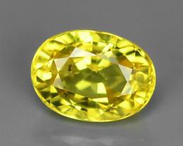 1.37 Carat Very Rare Yellow Color Natural Sapphire Loose Gemstones