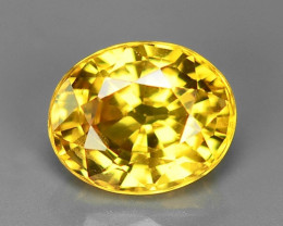 0.95 Carat Very Rare Yellow Color Natural Sapphire Loose Gemstones