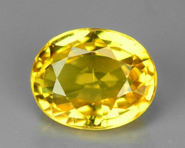 1.45 Carat Very Rare Yellow Color Natural Sapphire Loose Gemstones