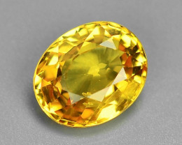 1.39 Carat Very Rare Yellow Color Natural Sapphire Loose Gemstones