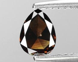 Natural Cognac Diamond - 0.58 ct