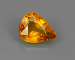 1.00 CTS DAZZLING TOP NATURAL YELLOW SAPPHIRE PEAR MADAGASCAR NR!!!