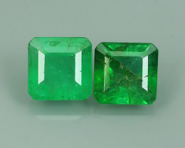 1.05 CTS EXQUISITE NATURAL UNHEATED GREEN EMERALD HEART ZAMBIA!!