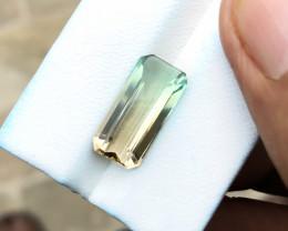 5.75 Ct Natural Ravishing Bi Color VVS Tourmaline Gemstone