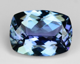 1.38 Cts Tanzanite Faceted Gemstone Awesome Color & Cut TZ8