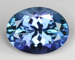 1.57 Cts Tanzanite Faceted Gemstone Awesome Color & Cut TZ10