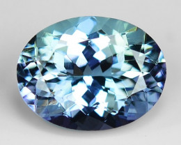1.64 Cts Tanzanite Faceted Gemstone Awesome Color & Cut TZ11