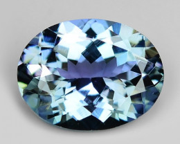 1.47 Cts Tanzanite Faceted Gemstone Awesome Color & Cut TZ13