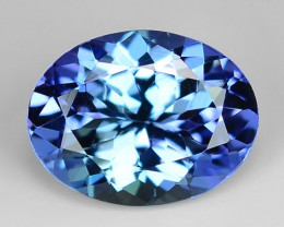 1.49 Cts Tanzanite Faceted Gemstone Awesome Color & Cut TZ17