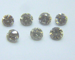 1.00ct Light Colored  Diamond Parcel , 100% Natural Untreated