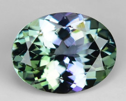 1.53 Cts Tanzanite Faceted Gemstone Awesome Color & Cut TZ19