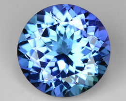 1.77 Cts Tanzanite Faceted Gemstone Awesome Color & Cut TZ21