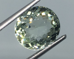 3.12 carat VVS Tourmaline Icy Mint Color Great Flash and Clarity!