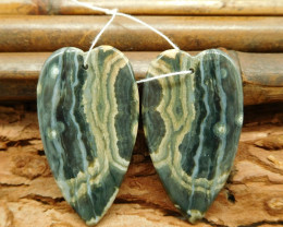 Heart pendant ocean jasper earring bead for women (G0130)